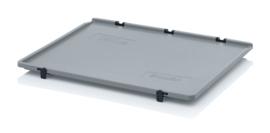 SD86 | AUER eurobox scharnierdeksel, afm. 80x60x2 cm (lxbxh), RAL 7001 zilvergrijs, gewicht 2,03 kg