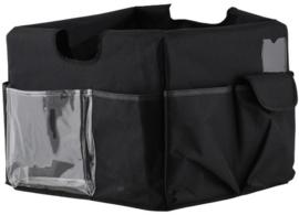 67905 | FOLD-N-ROLL canvas hoes zwart, opbergvakken rondom aan de buitenzijde, eigen gewicht 0,3 kg