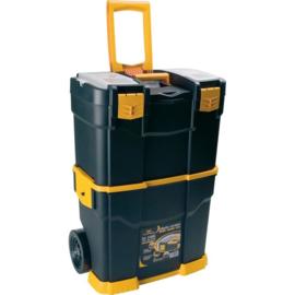 87536  I ALLIT McPlus 6700R Pro gereedschapstrolley, lichtgewicht kunststof, afm. 62x46,5x26,5 cm (hxbxd), afneembare gereedschapskoffer met draaggreep en uitneembaar vak voor kleine voorwerpen, gewicht 4,3 kg