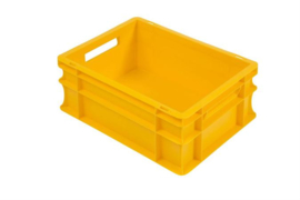 PB4317E-C | PLASTIBAC eurobak gesloten uitvoering, afm. 400x300x170 mm (lxbxh), handgrepen open, stapelbaar, inhoud 16l, gewicht 0,99 kg