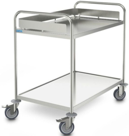 0127762 | HUPFER afruimwagen ARW 10x6/2, 2 etages, afm. laadvlak 1000x600 mm (bxd), draagvermogen 80 kg, gewicht 21 kg