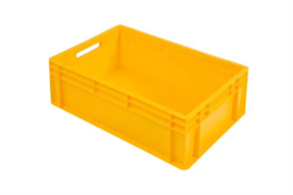 PB6422EC | PLASTIBAC eurobak gesloten uitvoering, afm. 600x400x220 mm (lxbxh), handgrepen open, stapelbaar,  inhoud 42l, gewicht 1,79  kg