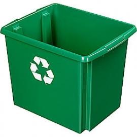 35800647 | SUNWARE Nesta Box Eco, afm. 455x360x360 mm (lxbxh), inhoud 45 ltr, kunststof, kleur groen