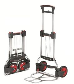 223481 | RUXXAC-cart Exclusive, steekwagen opvouwbaar, roestvrijstaal, afm. 490x1130/735 mm (bxh), laadschep afm. 490x410 mm (bxd), draagvermogen 125 kg, gewicht 6,0 kg