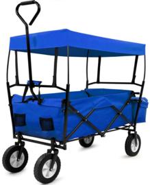19972-BW | DEMA bolderwagen Sunny de Lux, opvouwbaar, incl. luifel en tas, draagvermogen 75 kg,  totaal afm. 1800/1220x570x1000 mm (bxdxh), wand 250 mm (h), gewicht 11,8 kg