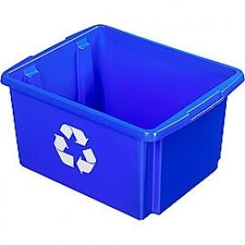39001248 | SUNWARE Nesta Box Eco, afm. 455x360x240 mm (lxbxh), inhoud 32 ltr, kunststof, kleur blauw
