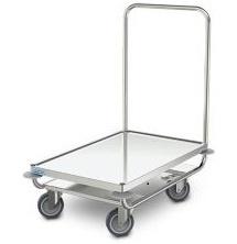 0112632 | HUPFER  platformwagen PW/10x6 roestvrijstaal, waterkeringsprofiel rondom, afm. platform 1000x600 mm (bxd), draagvermogen 120 kg, gewicht 15 kg