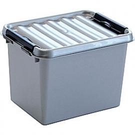 SUNWARE Q-Line opbergbox 3,0 liter, metallic/zwart