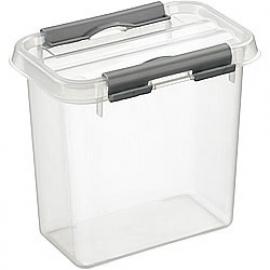 72601209 | SUNWARE Q-Line opbergbox 1,1 liter, transparant/metallic, stapelbaar