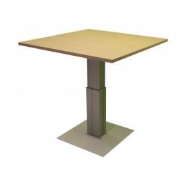 ED2100R | EasyDesk EK-500, zit-sta kolompoot tafel, elektrische hoogteverstelling traploos 685-1185 mm, slag 500 mm, blad rond Ø1000 mm, hefvermogen 120 kg