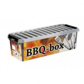 Q-Line BBQ Multi Box, 9.5 liter, grijs/transparant