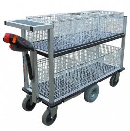 0408002 | FLEXYCART EcoLine elektrische postwagen EPW2EL, aandrijving 24Vdc/400W, laadvlak 1250x600 mm (lxb), laadvermogen 500 kg