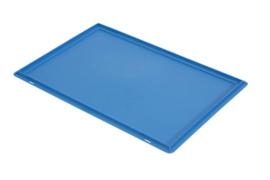PB64EC | PLASTIBAC eurobak opliggend deksel, afm. 600x400x16 mm (lxbxh), gewicht 0,87 kg