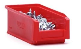 SLK2L-3020 | Kunststof magazijnbak 21,5x10x7,5 cm (lxbxh), rood, gewicht 89 g