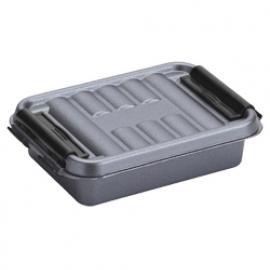 83201225 | SUNWARE Q-Line opbergbox 0,2 liter, afm. 11,8x7,7x3 cm (bxdxh), metallic/zwart, stapelbaar