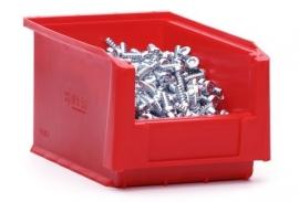 SLK3-3020 | Kunststof magazijnbak 23x15x12,5 cm (lxbxh), rood, gewicht 200 g