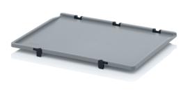 SD64 | AUER scharnierend deksel, afm. 60x40x2,2 cm (lxbxh), RAL 7001 zilvergrijs, gewicht 725 g