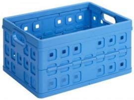 57000011 | SUNWARE Square stapelbare vouwkrat met open handgrepen, afm. 49x36x25 cm (bxdxh), draagvermogen 30 kg, inhoud 32 liter, kleur blauw, gewicht 1,0 kg