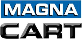 20015  | MAGNA MFF platformwagen, kunststof-aluminium, opklapbare softgrip duwbeugel-wielen, zwart kunststof laadvlak 675x410x920 mm (lxbxh), draagvermogen 135 kg, gewicht 6,7 kg