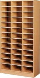 E31012 | PRIMA OFFICE vakkenkast Classic IP-Maxi/925, 3 kolommen 39 vakken, vakhoogte 115 mm, afm. 915x400x1800 mm (bxdxh), beukenlaminaat