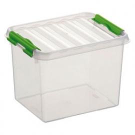 SUNWARE Q-Line opbergbox 3,0 liter, transparant/groen