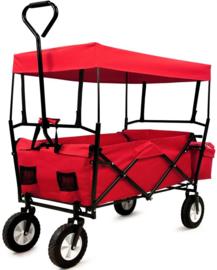 19972-RD | DEMA bolderwagen Sunny de Lux, opvouwbaar, incl. luifel en tas, draagvermogen 75 kg,  totaal afm. 1800/1220x570x1000 mm (bxdxh), wand 250 mm (h), gewicht 11,8 kg