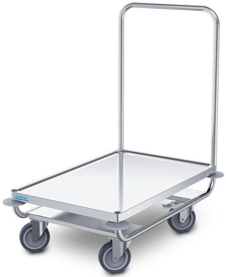 0112602   HUPFER  platformwagen PW/8x5, roestvrijstaal, waterkeringsprofiel rondom, afm. platform 800x500 mm (bxd), draagvermogen 120 kg, gewicht 11,3 kg