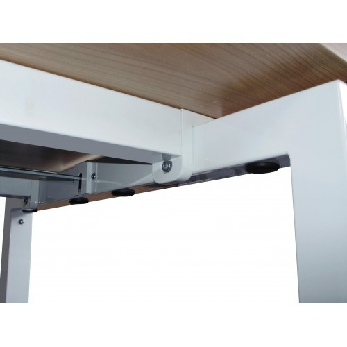ED9120L | EasyDesk 240, zit-sta bureau/werktafel, handslinger met spindeltechniek hoogteverstelling traploos 610-850 mm, slag 240 mm, bladmaat 1200x800 mm (bxd), hefvermogen 100 kg