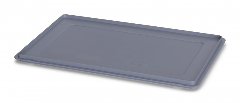 DE64   AUER oplegdeksel zonder scharnieren, afm. 60x40x2,2 cm (lxbxh), zilvergrijs, gewicht 665 g