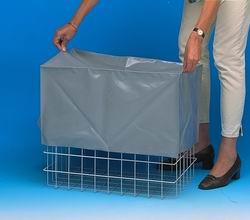 20020065 | PROMAIL afdekhoes t.b.v. SUNWARE Square kunststof vouwkrat 32 liter, afm. 500x370x245 mm (lxbxh), PVC gecoat nylon, kleur grijs