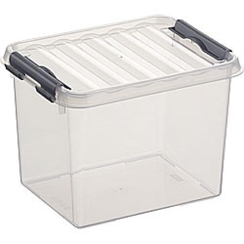 SUNWARE Q-Line opbergbox 3,0 liter, transparant/metallic