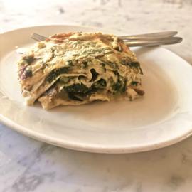 Primo - Lasagna con cime di rapa e funghi (veg) (1 pers.)