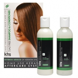 KHS Keratin Home System Salt free Shampoo & Conditioner 2 x 200ml Kit