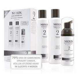 Nioxin Kit System 2 zichtbaar dunner wordend, fijn, natuurlijk haar