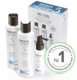 Nioxin Kit System 5 normaal tot dun uitziend, medium tot dik, natuurlijk of chemisch behandeld haar