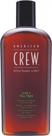 American Crew Classic 3-In-1 Shampoo, Conditioner & Body Tea Tree 450 ml