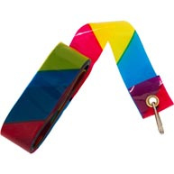Stripping staart,  regenboogkleur.