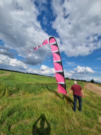 roze windfaan 6 meter b keuze