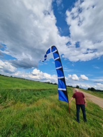 blauwe windfaan 6 meter b keuze