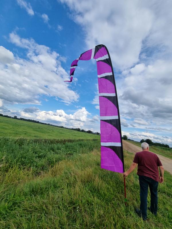 paarse windfaan 6 meter b keuze