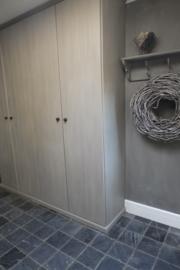 Kast van Mdf - kleur Country Grey en French Linen