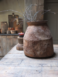 XL grote kruik pot oud hout 41cm nr 4