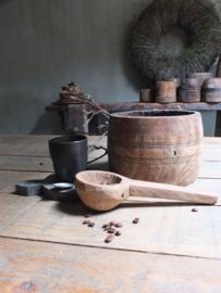 Oude houten lepel serveerlepel nr 1 - 24,5cm