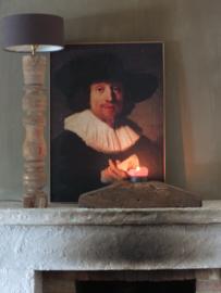 Prent canvasdoek schilderij Rembrandt 70cm