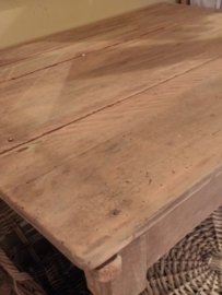 Voorbeeld  krijtverf op oud tafeltje- Kleur Old White