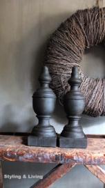Ornamenten - Annie Sloan Graphite, Honfleur, Clear wax en Dark wax