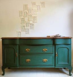 Annie Sloan Amsterdam Green en dark wax