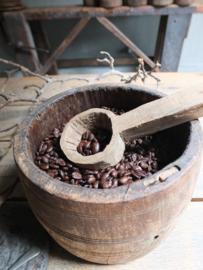 Oude houten lepel serveerlepel nr 2 - 22,5cm