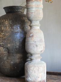 Robuuste hoge kandelaar stoer landelijk nr 2 52cm