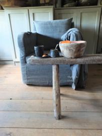 Landelijke fauteuil katoen linnen mix